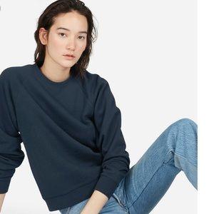 Everlane Navy Slim Classic French Terry Sweatshirt